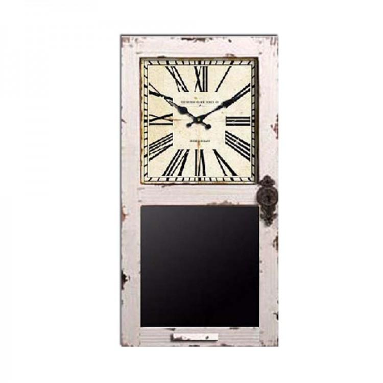 Reloj Pizarra de Madera y Cristal envejecido (35x8x70)