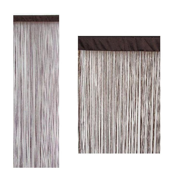 Cortina de hilos color chocolate (90x200)