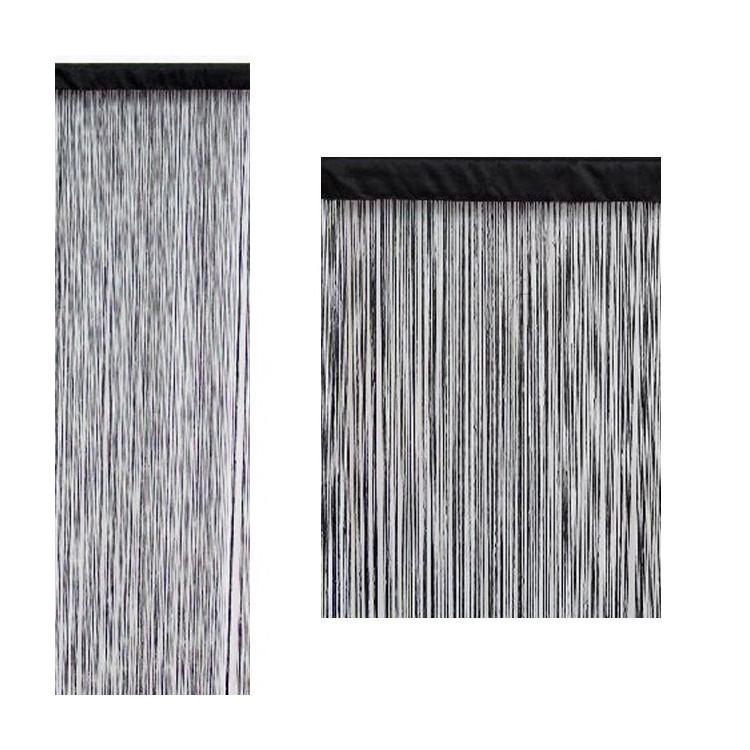 Cortina de hilos color negro (90x200)