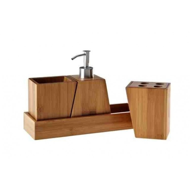 Comprar set de ba o de 4 piezas hogar y m s for Accesorios bano bambu
