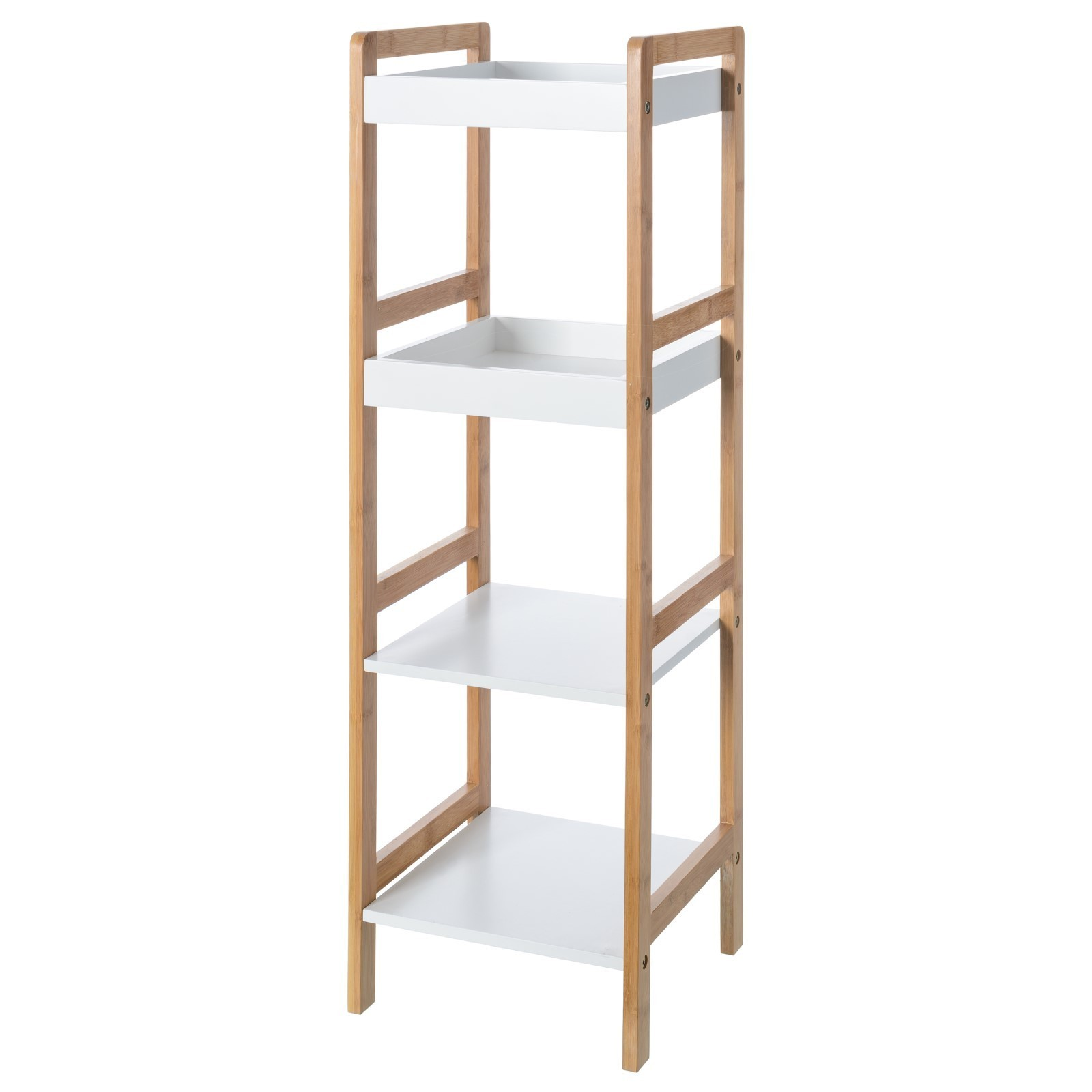 Shelf bamboo four shelves (30x29x72)