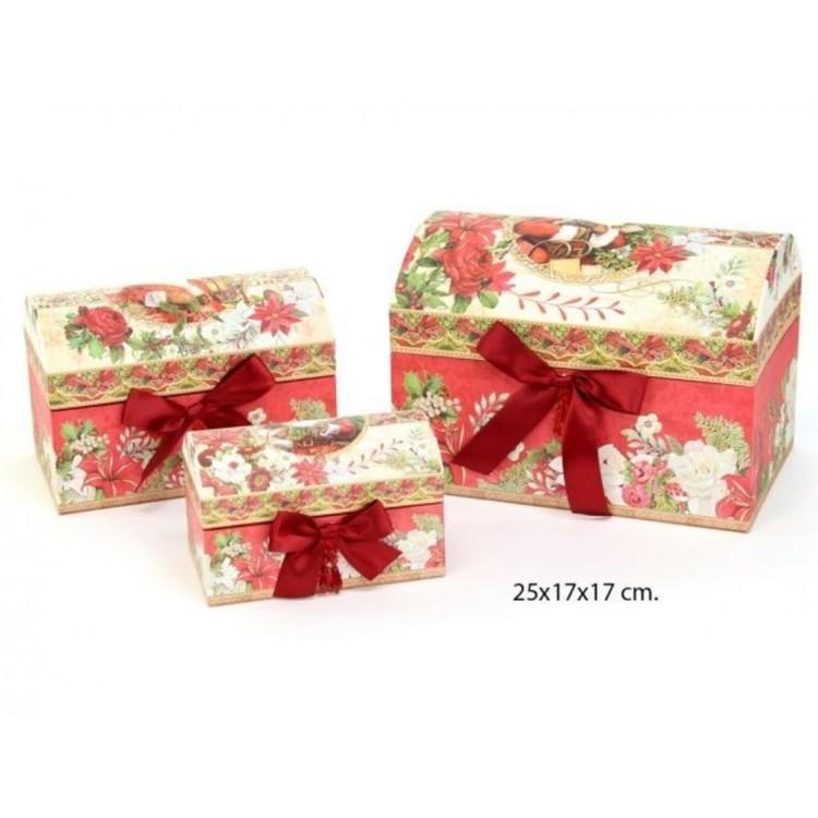"""Caja baúl elegante de Navidad """"Santa Claus"""""""