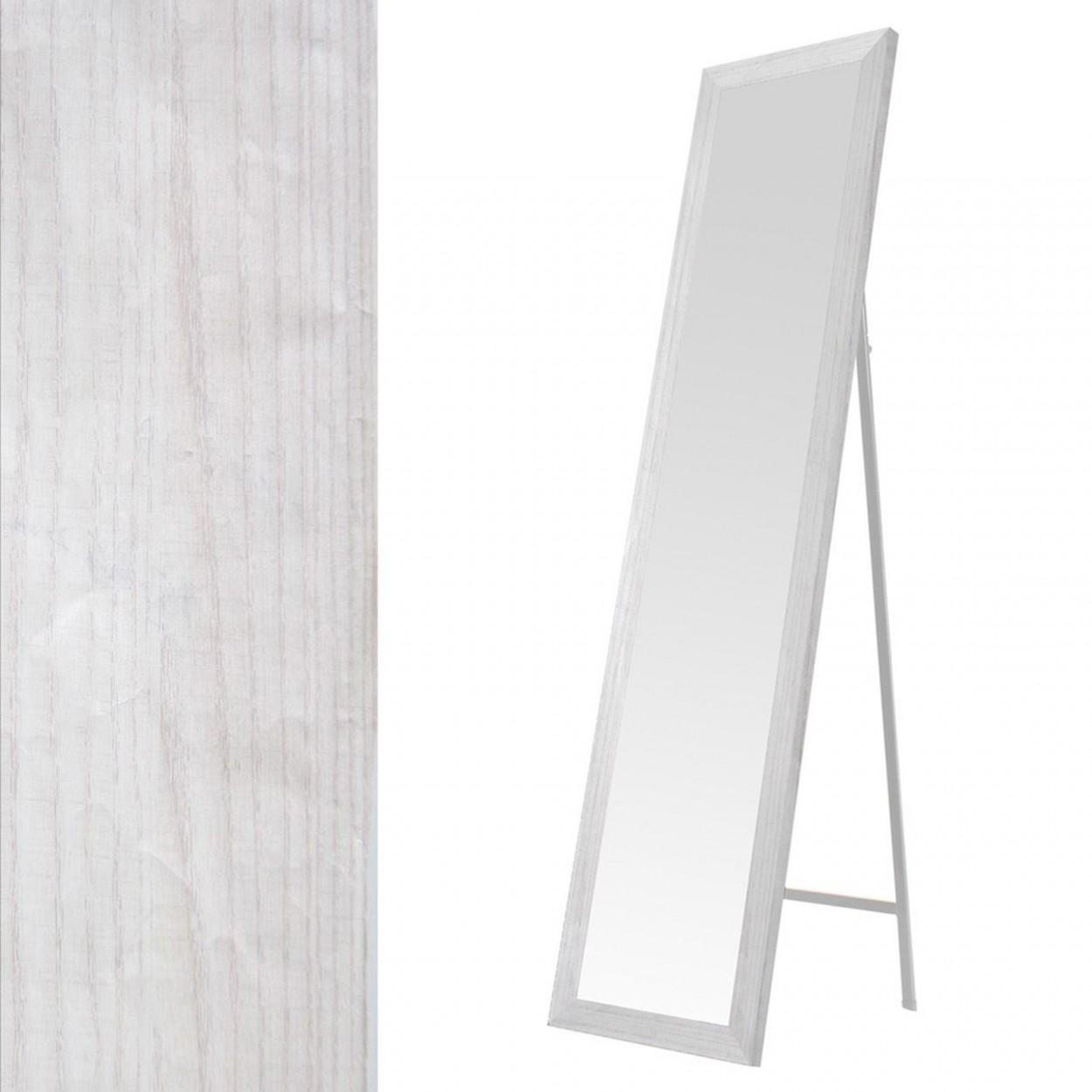 Comprar espejo de pie en mdf color blanco hogar y mas for Espejo pie blanco