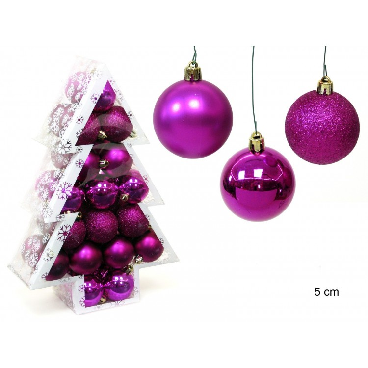 "Bola decorativa de Navidad fucsia ""Purple Holiday"""