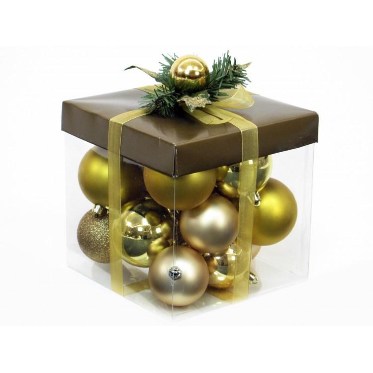 Set de bolas doradas de navidad