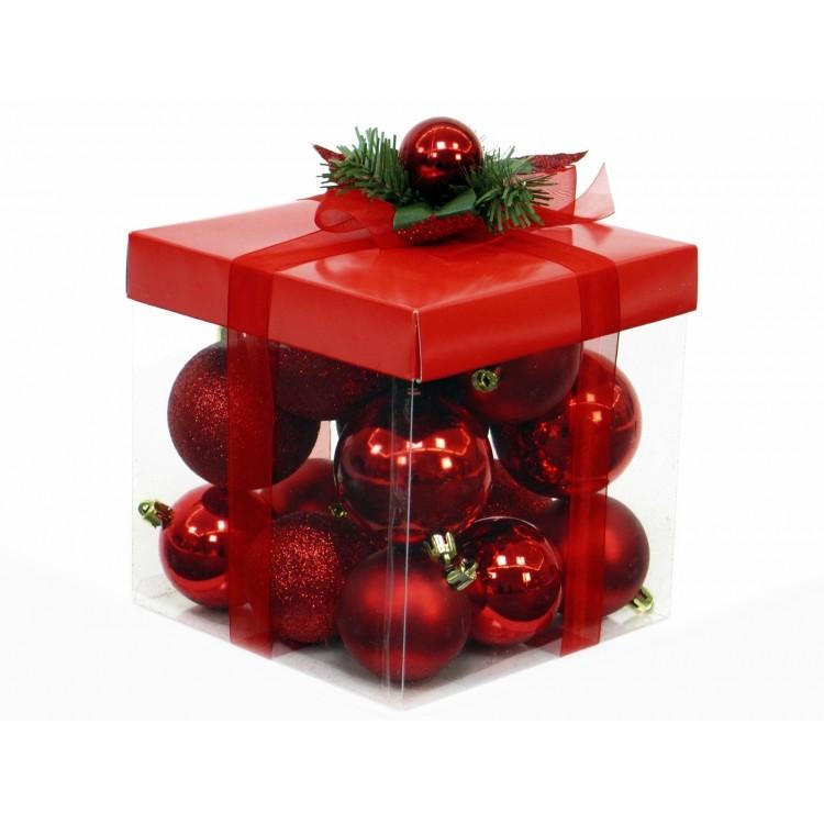 Set de bolas rojas de navidad