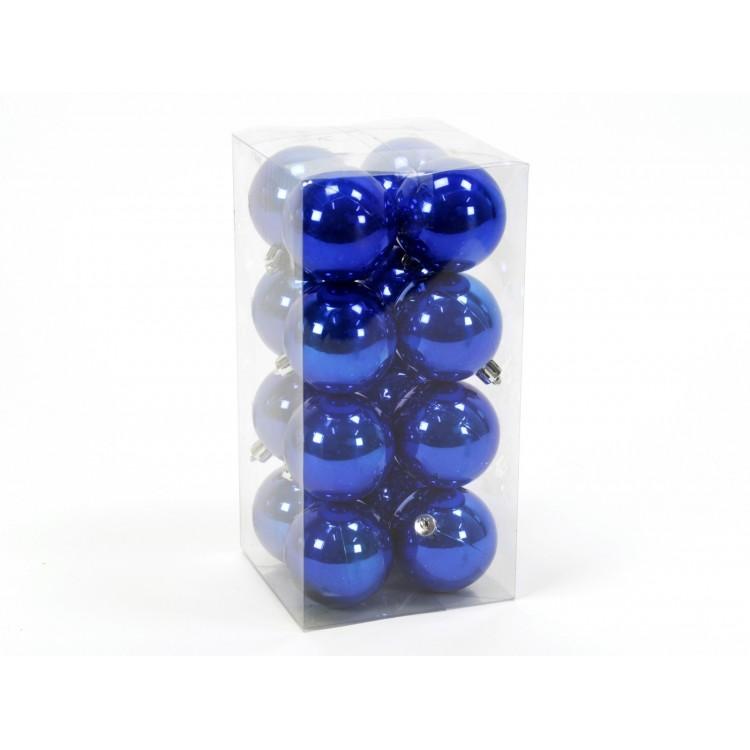 """Bola decorativa de Navidad perlada de color azul """"Blue Holiday"""""""