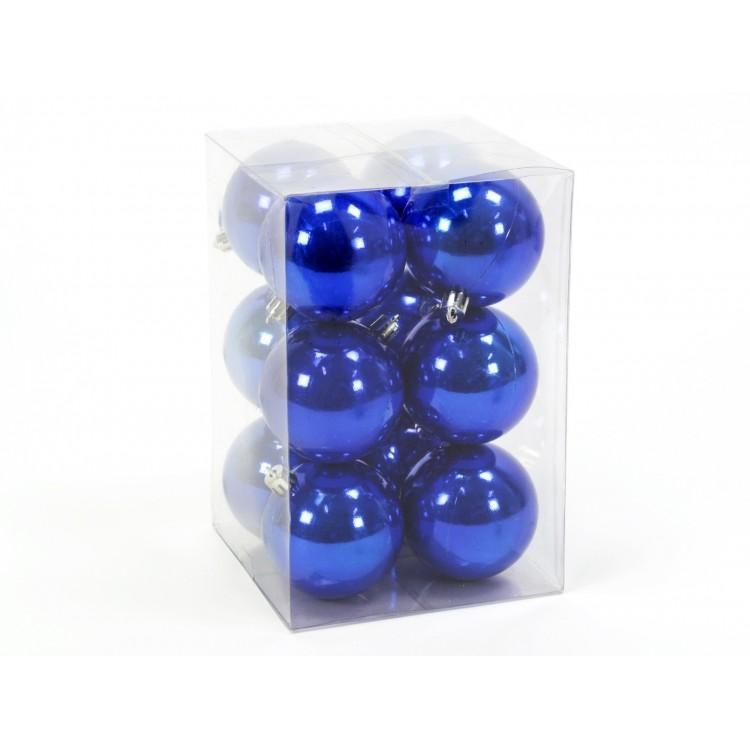 Bola decorativa de Navidad de color Azul perlado Set de doce