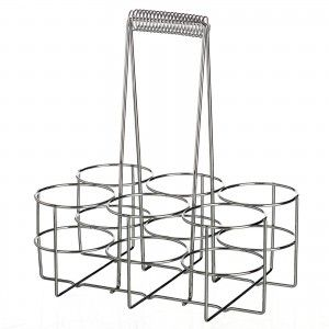 Bottle rack in chrome-plated iron (29x19,40x32,50)