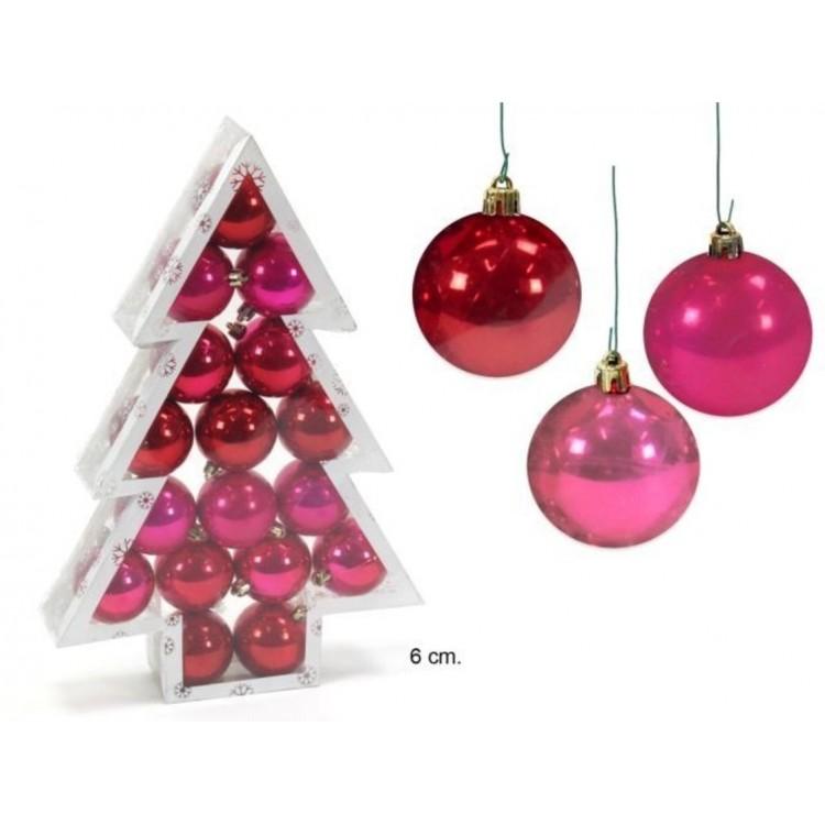 Bola decorativa de Navidad color Rojo