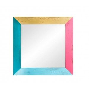 Mirror wall wood colour 70x70 cm