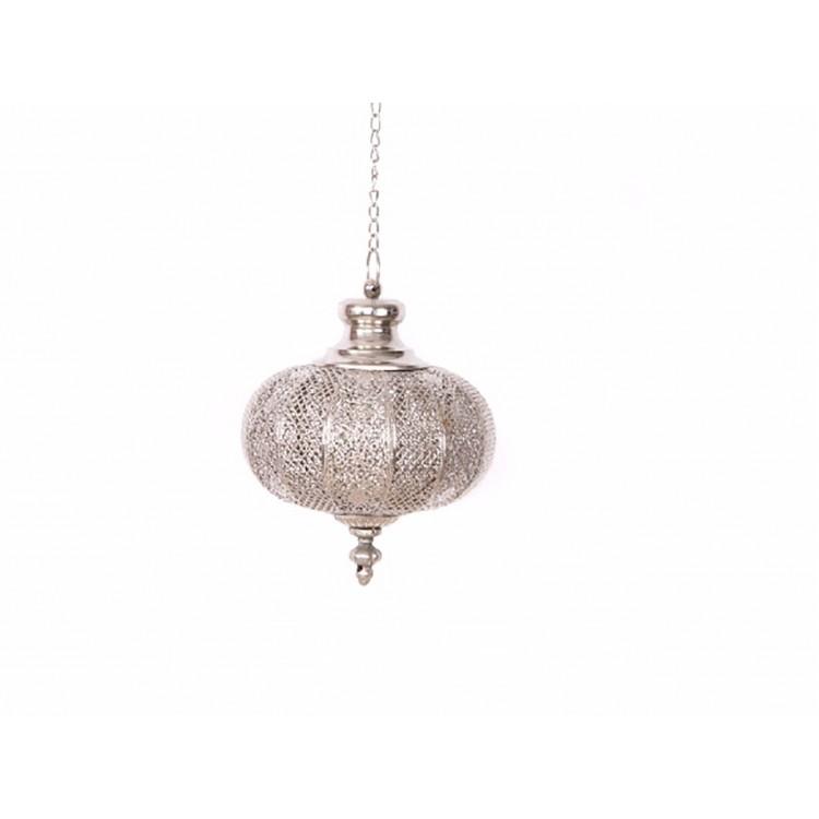 Farola de metal -  Estilo étnico (22x22x26 cm)