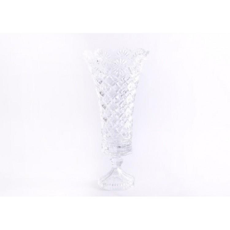 Jarrón de cristal en forma de copa (16x33 cm)