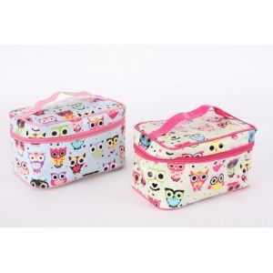 Bag with zipper PVC - Model owls (20x12x13 cm)