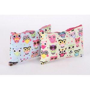 Bag with zipper PVC - Model owls (20x13 cm)