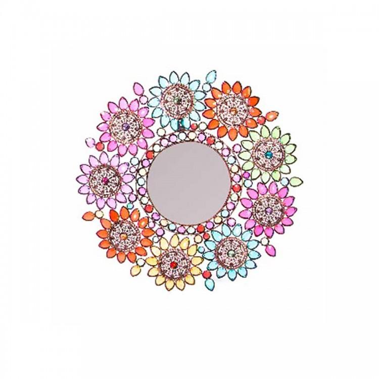 Espejo para pared con gemas (53x3.5)