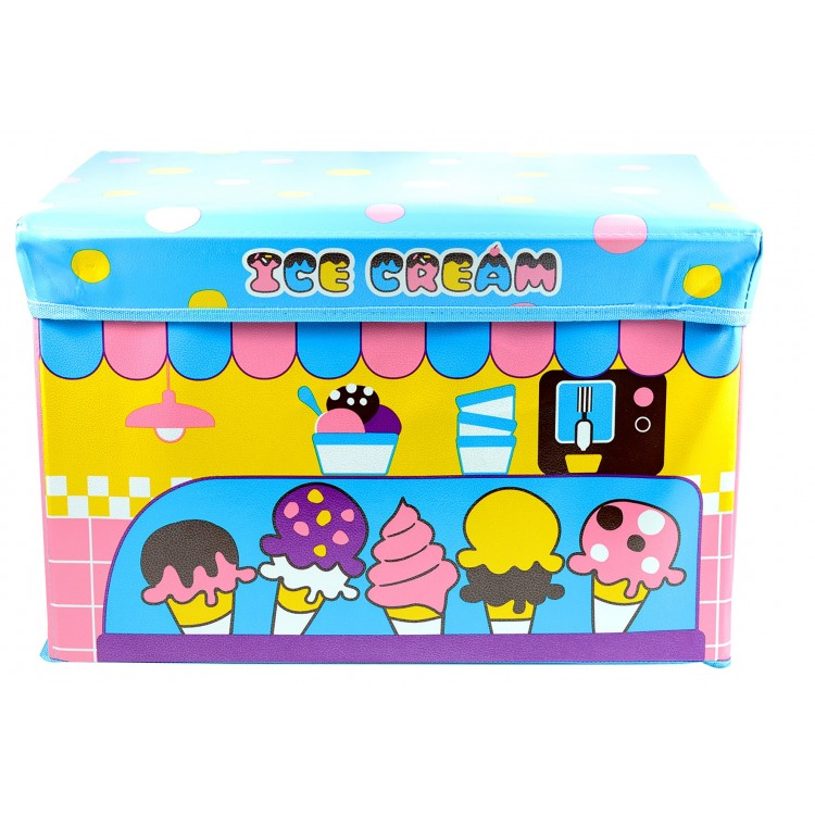 Puff - arcón plegable infantil ice cream (31x48x31 cm)
