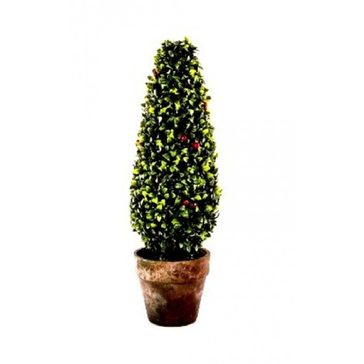 Arbusto artificial con maceta (18x56 cm)