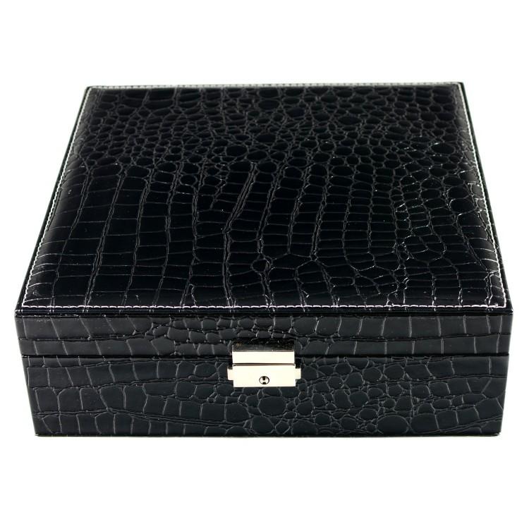 Joyero Negro (26x9x26.5 cm) Polipiel