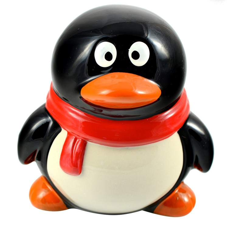 Hucha Infantil Mod. Pingüino (12x12x11 cm)