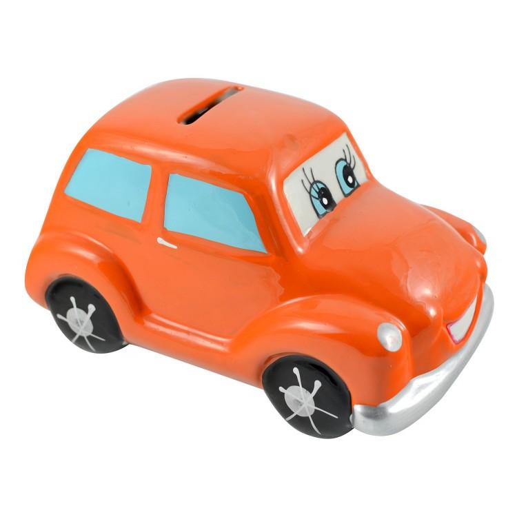 Hucha infantil de cerámica - Modelo coche (7.5x7.5x13cm)