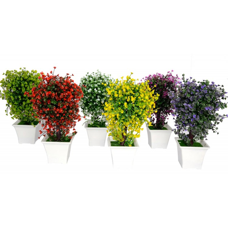 Planta artificial con maceta (23x14 cm)