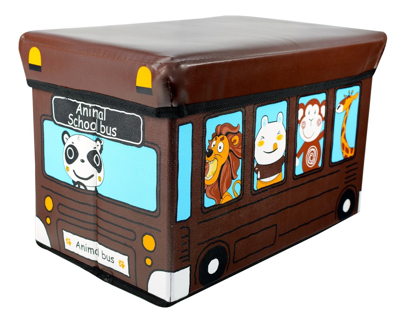 Puff-chest folding child - Model bus brown (40x25x25 cm)
