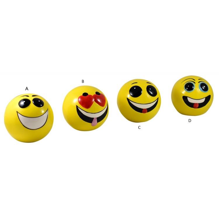 Hucha de cerámica - modelo cara divertida Emoticono