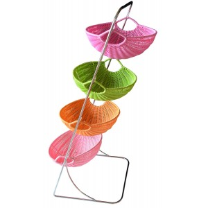 Fruit dish Metal Three Baskets (79x33x46 cm)