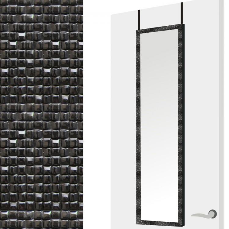 Espejo para puerta en color negro