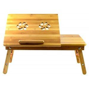 Bandeja de Ordenador (49.5x30x27.3 cm) Bambú