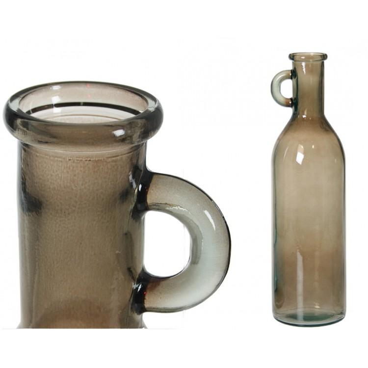 Botella de Cristal con Asa 50 cm Marrón