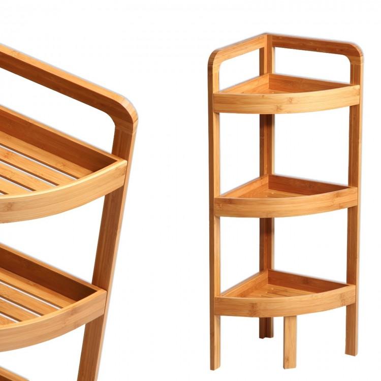 Estantería rinconera de Bambú 3 baldas