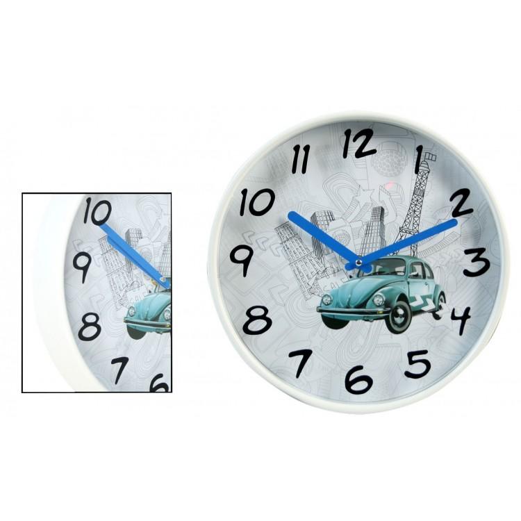Reloj de Pared Melamina Coche (30x4.2 cm)