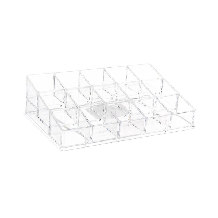 Organizador para el baño - 15 compartimentos (20x13x6 cm)