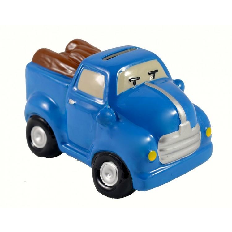 Hucha infantil Azul de cerámica - Modelo camión