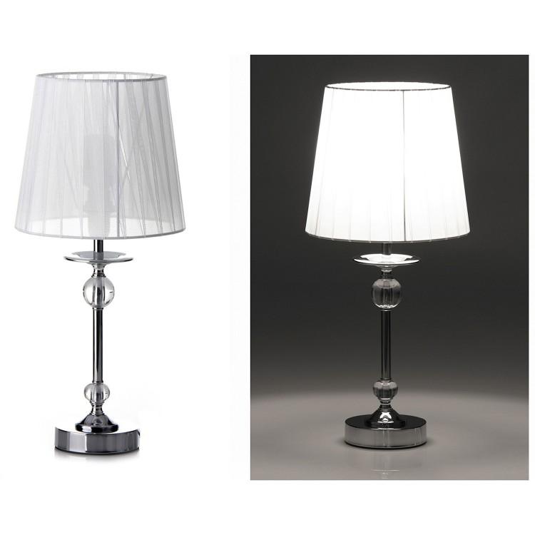 Lámpara de mesa de metal - Color blanco (20x20x42.5 cm)