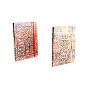 Libreta de cartón con goma - Modelo étnico  (13.5x18 cm)