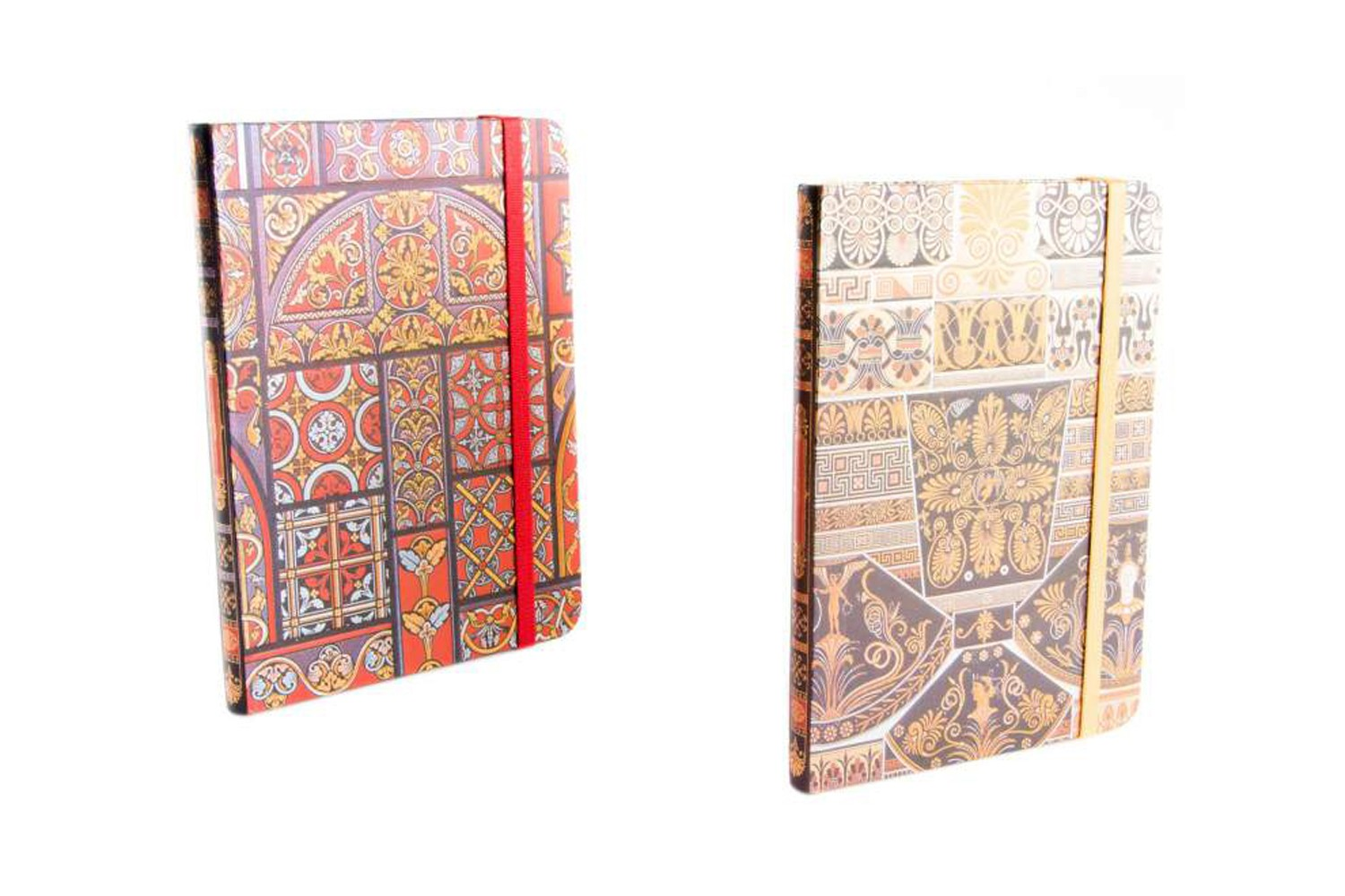 Book of cardboard with rubber - Model ethnic background (13.5x18 cm)