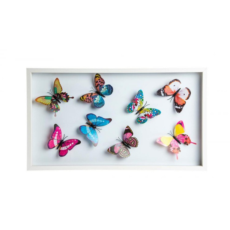 Decoración de pared - Modelo mariposas (42x30x3.5 cm)