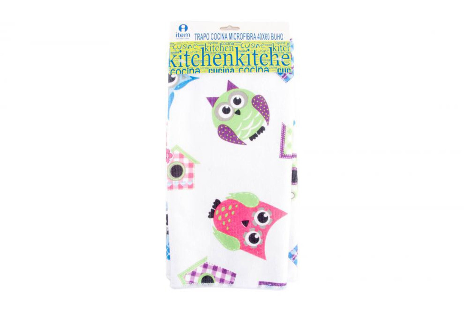 Kitchen cloth microfiber - Model owls (40x60 cm)