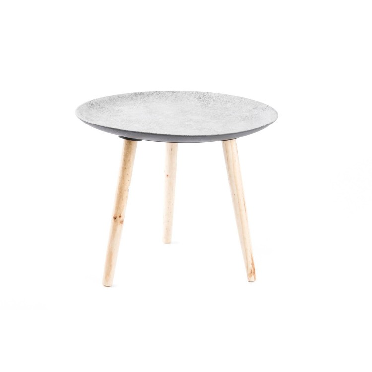 Mesa redonda de madera (55x47 cm)