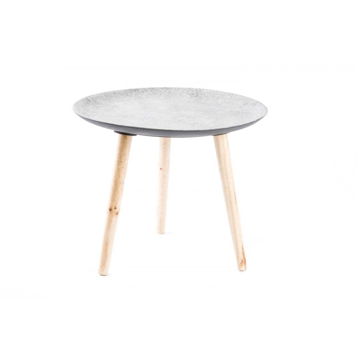 Mesa redonda de madera 55x47 cm hogar y m s for Mesa redonda madera