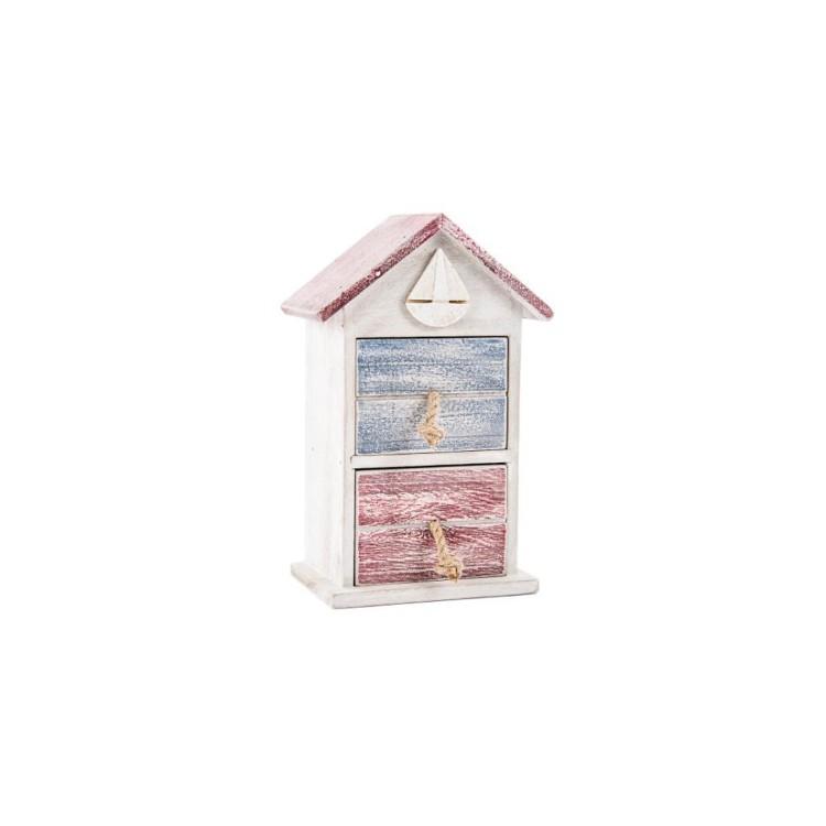 Cajonera de madera - Marine Home (16x11.5x28 cm)