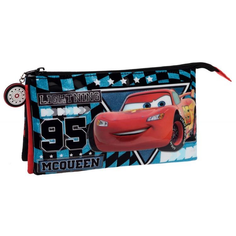 Estuche pongotodo Cars Glitter (22x12x5 cm)