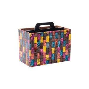 Revistero con asa (35x20x30 cm) Multicolor