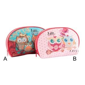 Washbag PVC - Model owls (26x16x6.5 cm)
