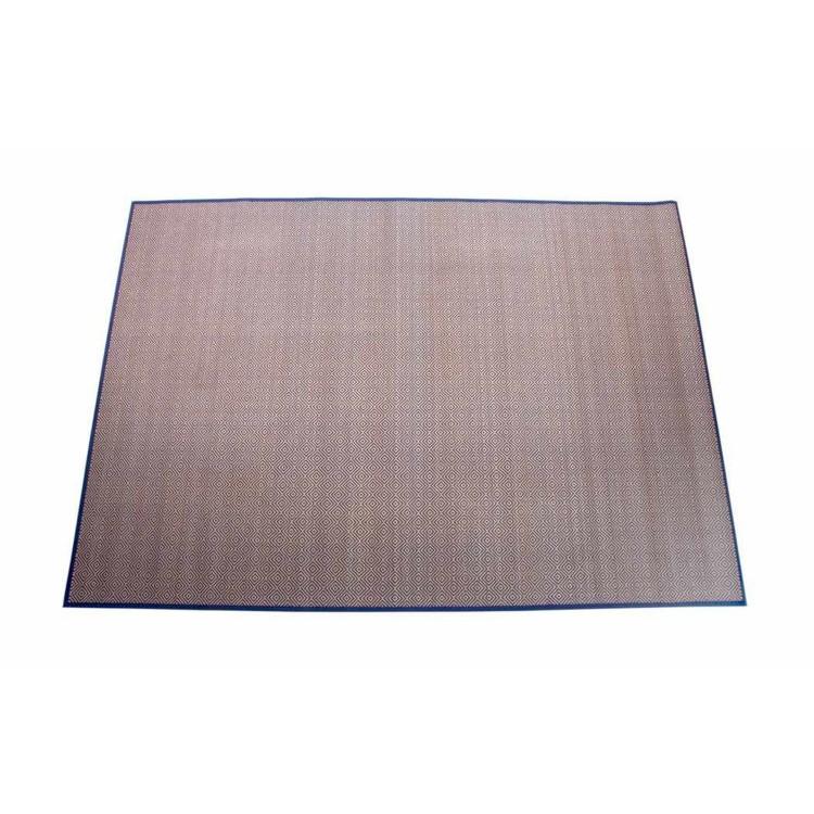 Comprar alfombra de bambu con hilo trenzado azul hogar y mas - Alfombras bambu colores ...