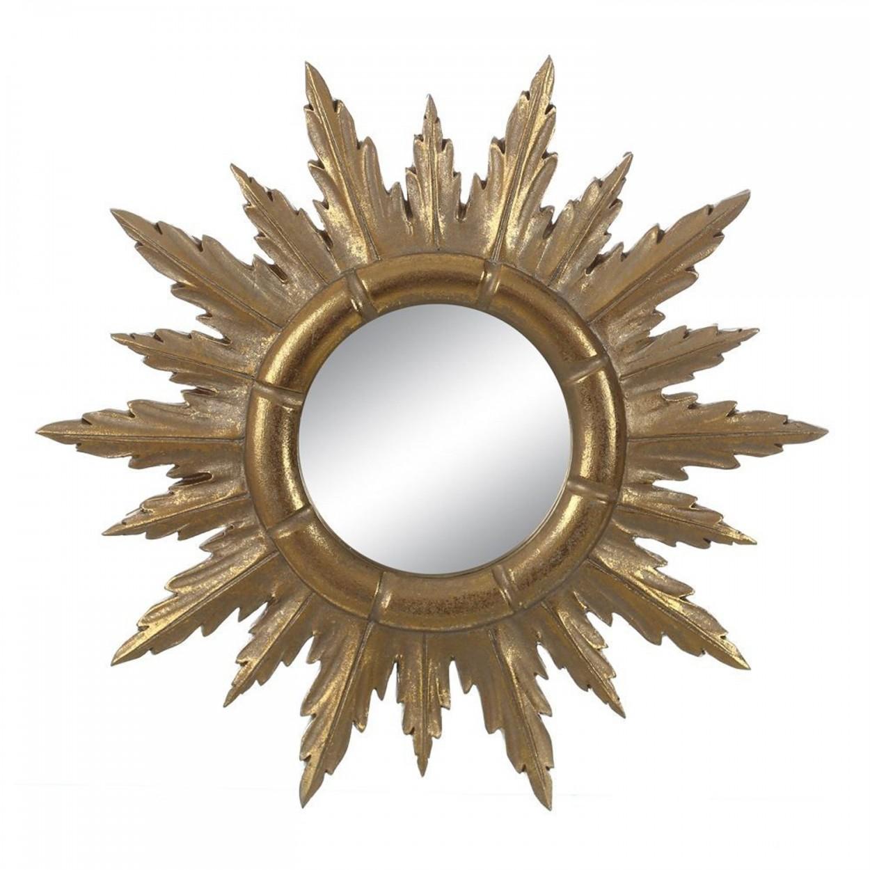 Espejo de resina original color oro con forma de sol set de cuatro diferentes golden sun - Espejos de resina ...