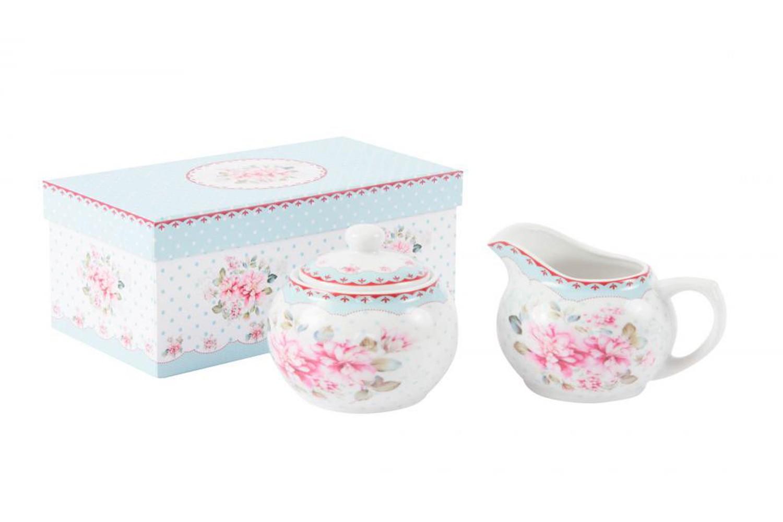 Set Azucarero y lechera de Porcelana + caja